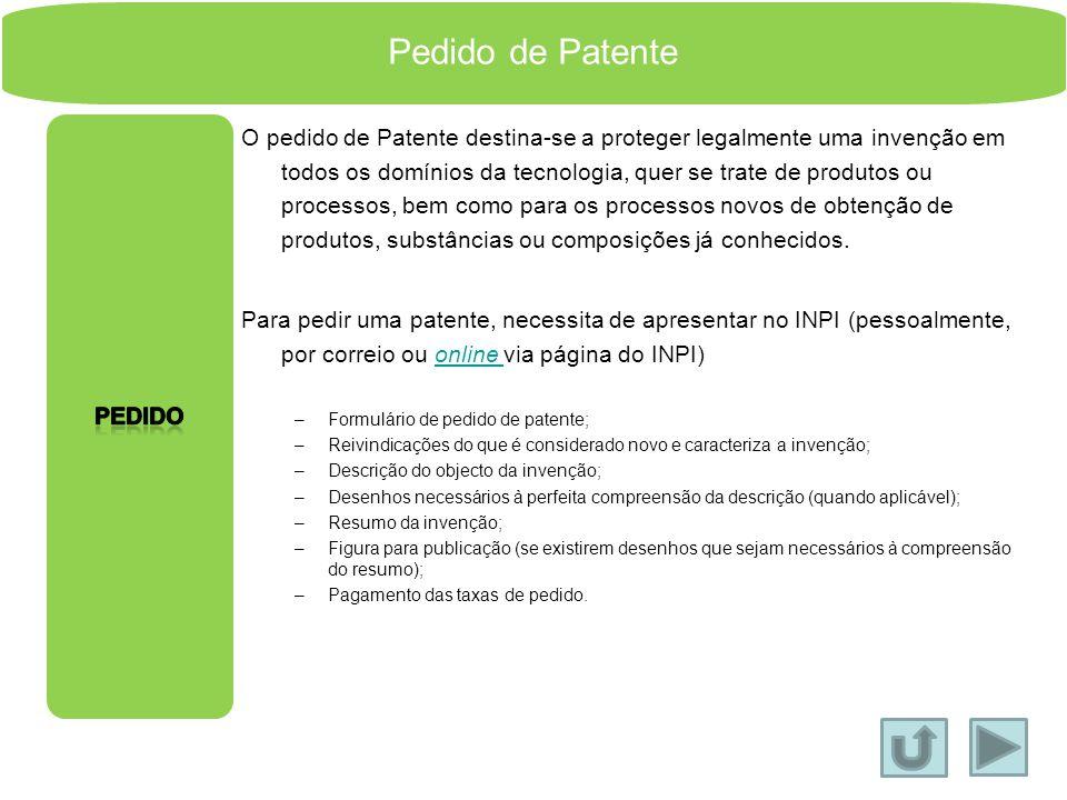 Pedido de Patente Pedido.