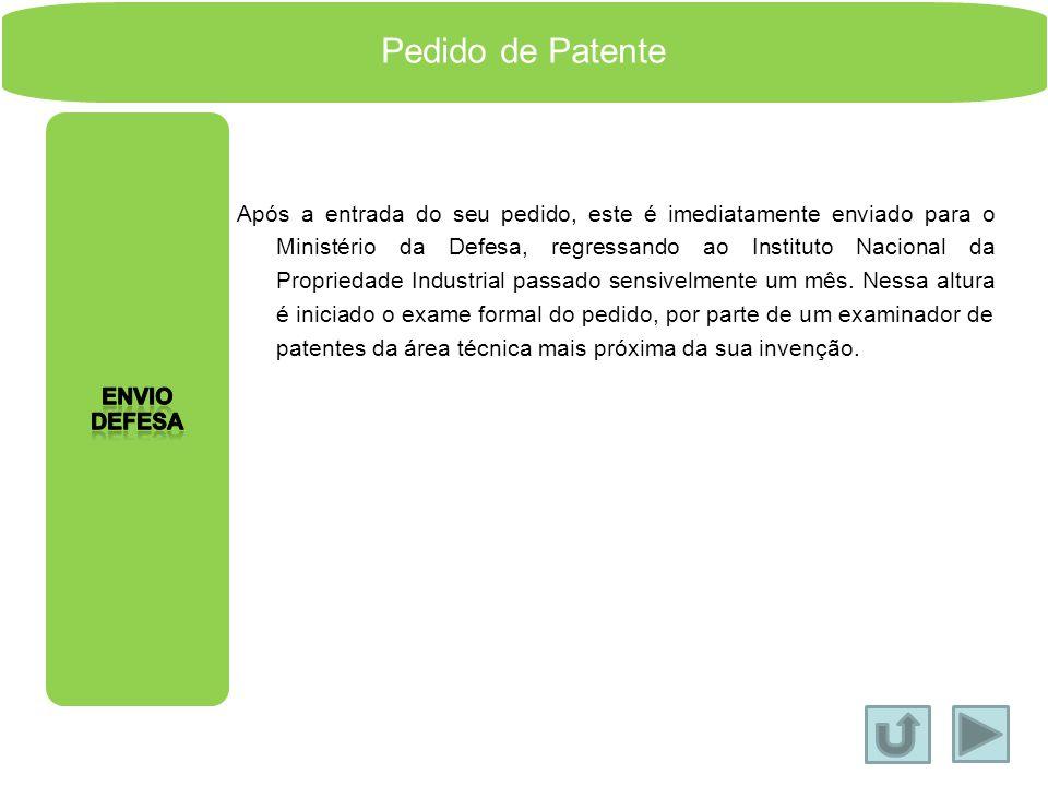 Pedido de Patente Envio DEfesa.