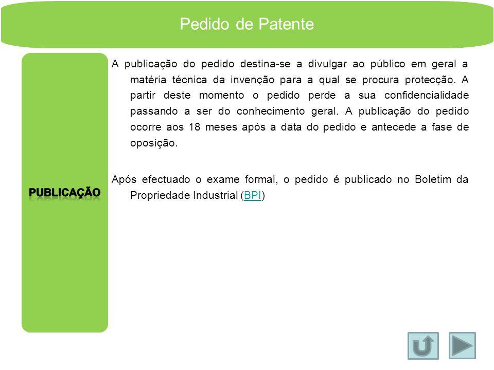 Pedido de Patente Publicação.