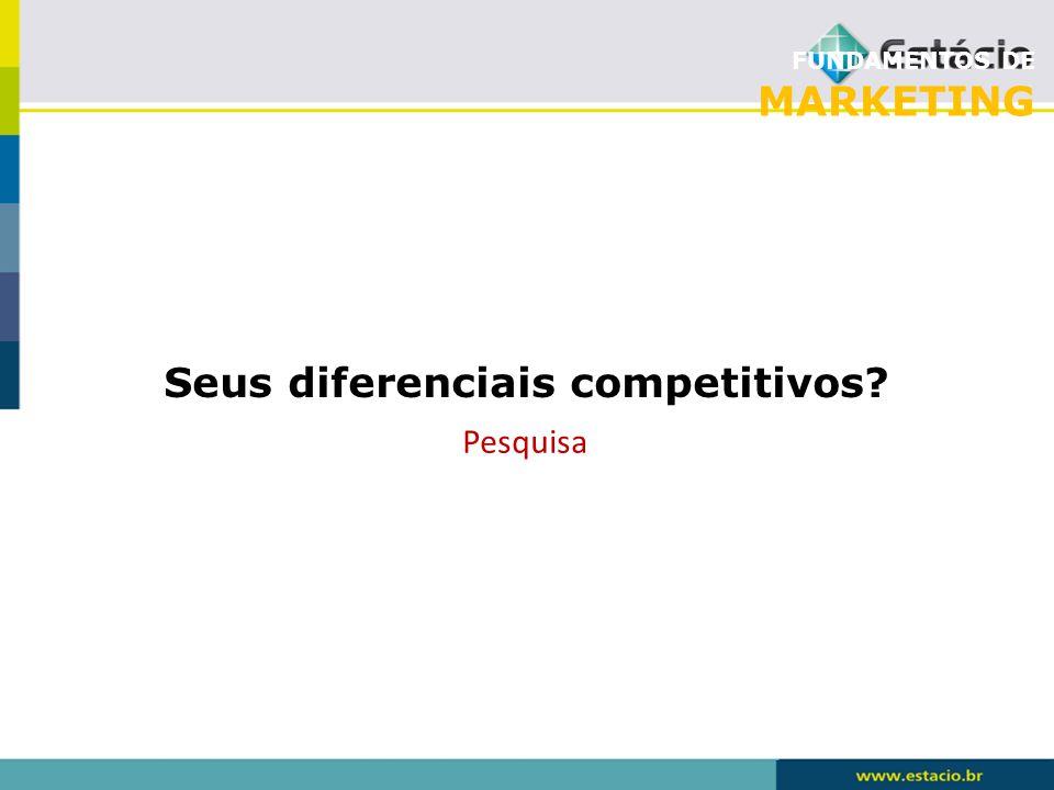 Seus diferenciais competitivos