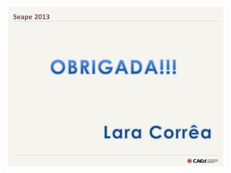 Seape 2013 OBRIGADA!!! Lara Corrêa