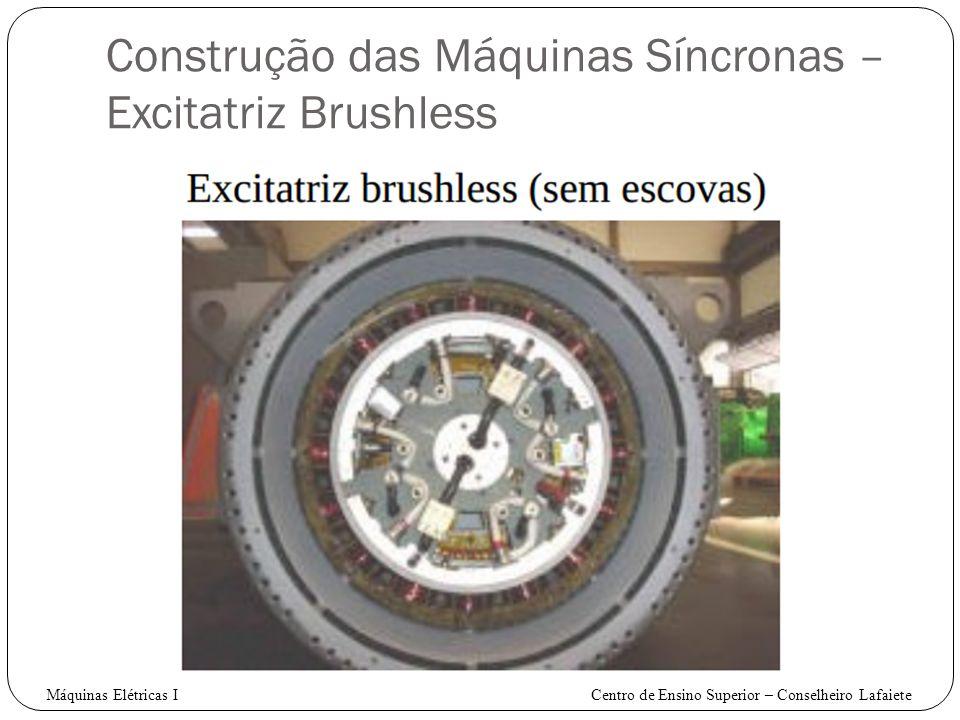 Construção das Máquinas Síncronas – Excitatriz Brushless