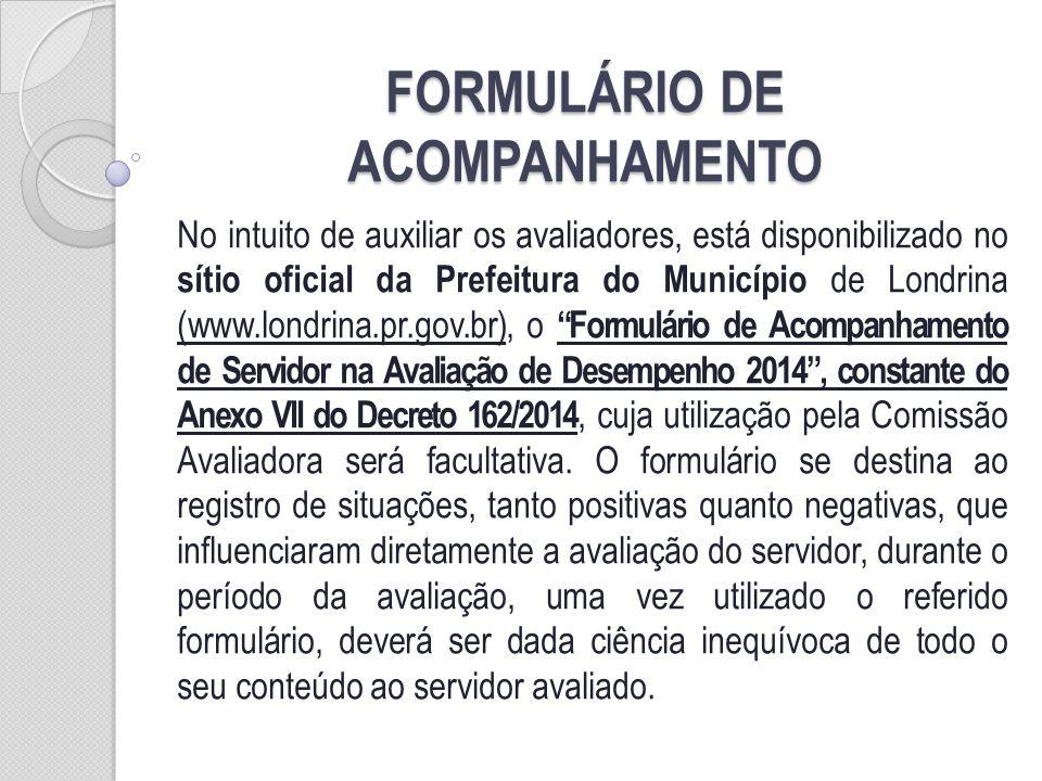 FORMULÁRIO DE ACOMPANHAMENTO