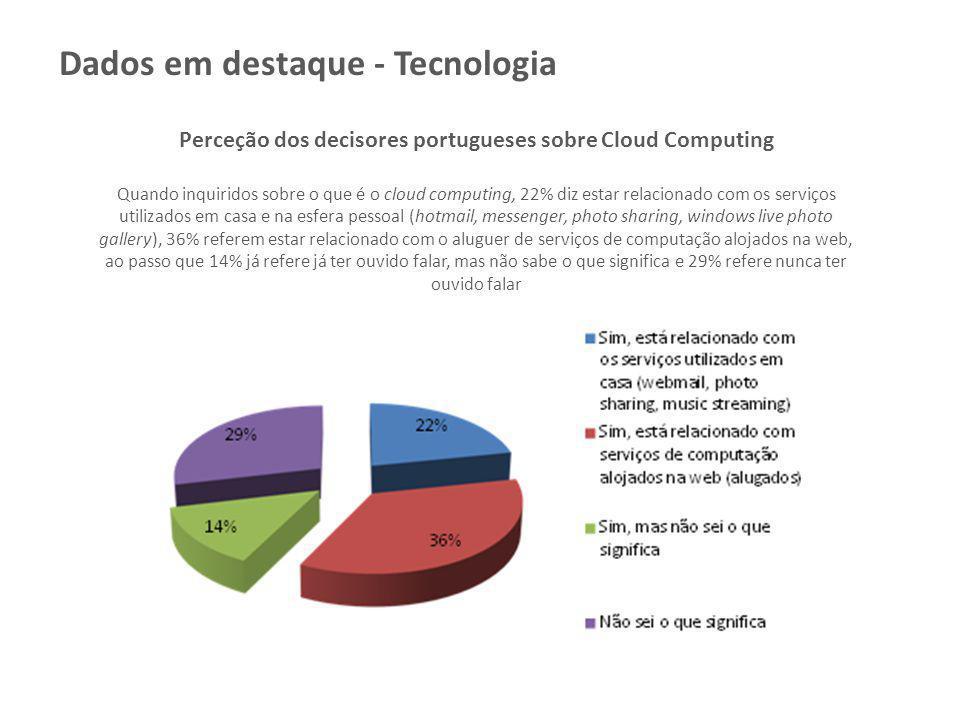 Perceção dos decisores portugueses sobre Cloud Computing