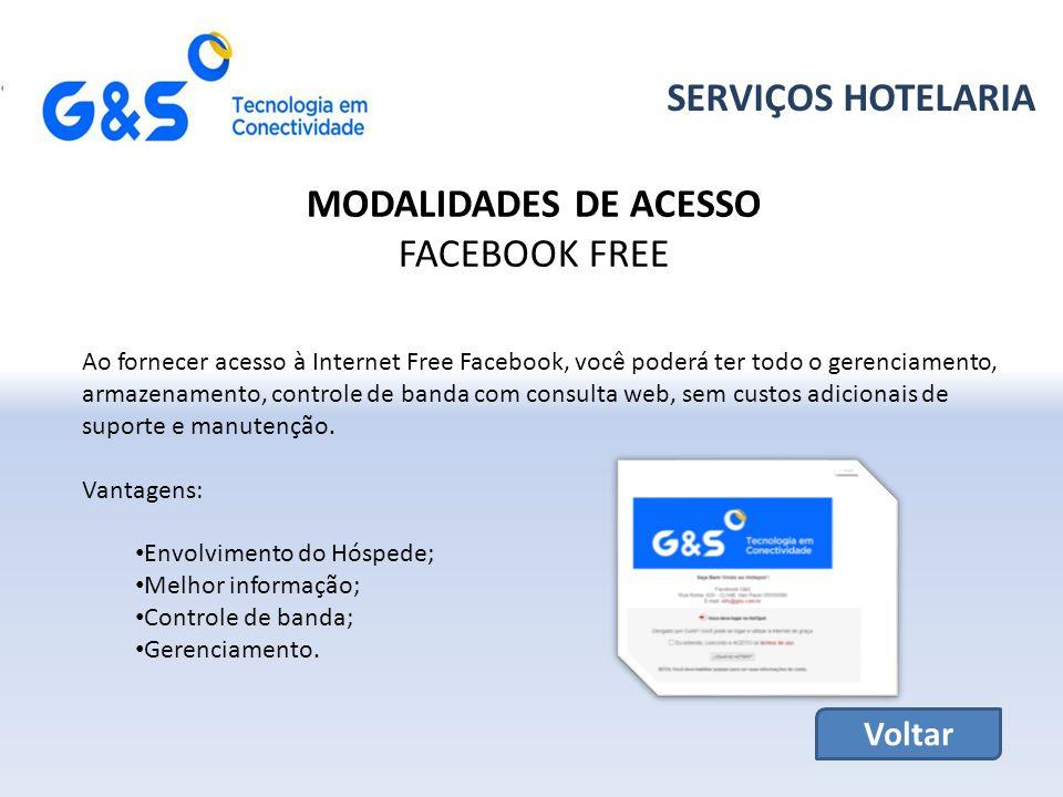 SERVIÇOS HOTELARIA MODALIDADES DE ACESSO FACEBOOK FREE Voltar