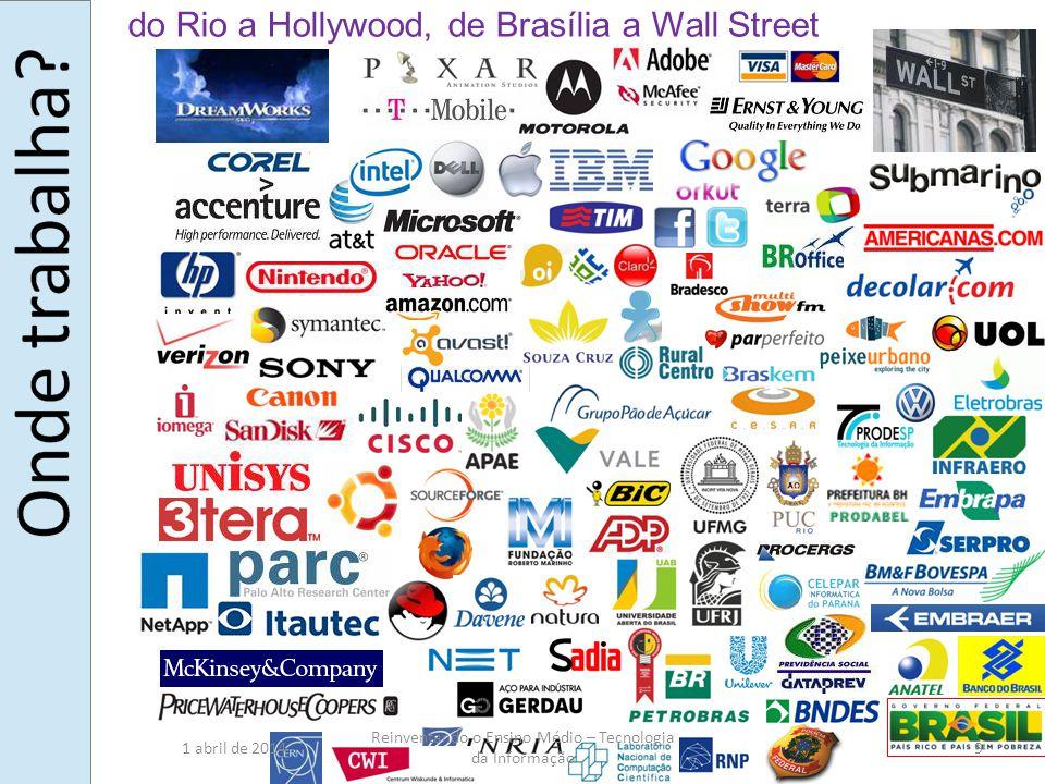 do Rio a Hollywood, de Brasília a Wall Street