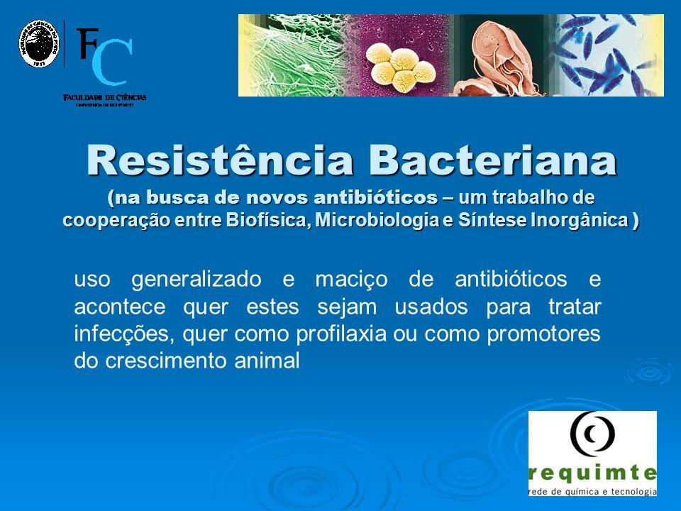 Resistência Bacteriana (na busca de novos antibióticos – um trabalho de cooperação entre Biofísica, Microbiologia e Síntese Inorgânica )