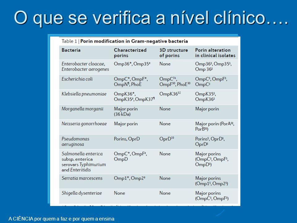 O que se verifica a nível clínico….