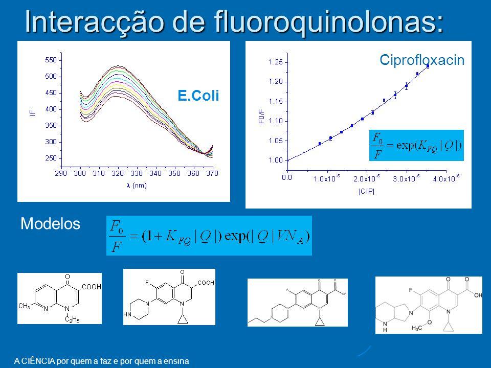 Interacção de fluoroquinolonas: