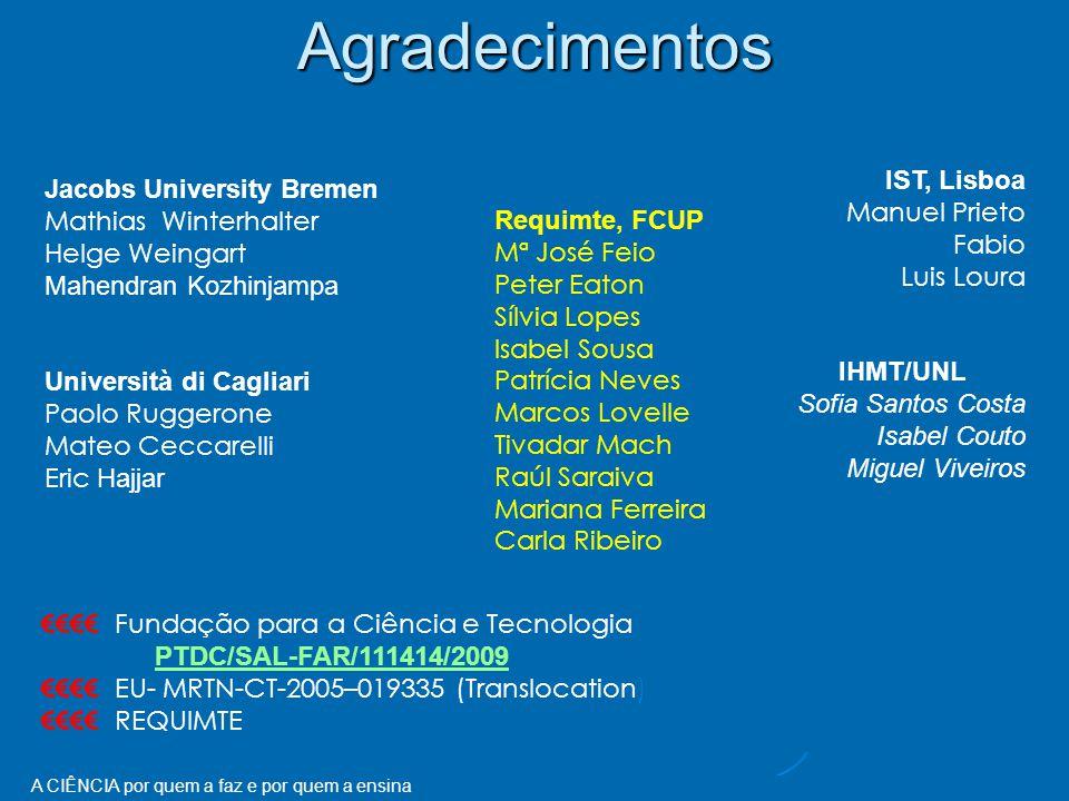 Agradecimentos IST, Lisboa Manuel Prieto Fabio Luis Loura