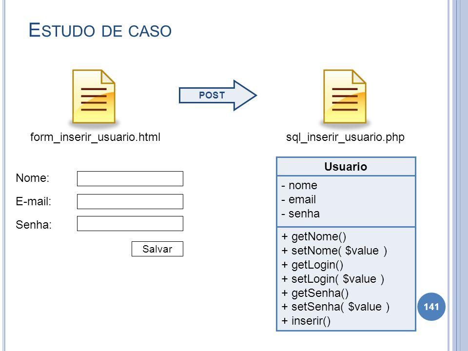 Estudo de caso form_inserir_usuario.html sql_inserir_usuario.php