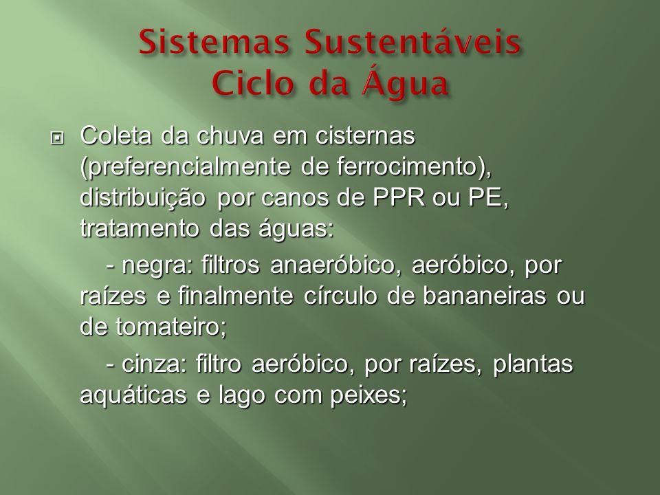 Sistemas Sustentáveis Ciclo da Água
