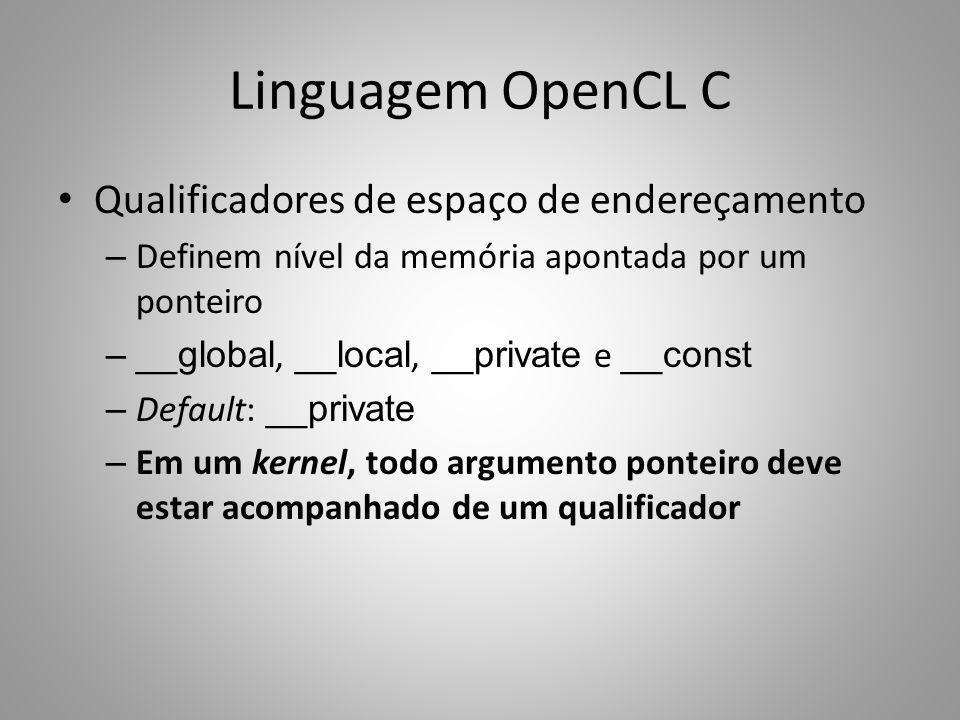 Linguagem OpenCL C Qualificadores de espaço de endereçamento
