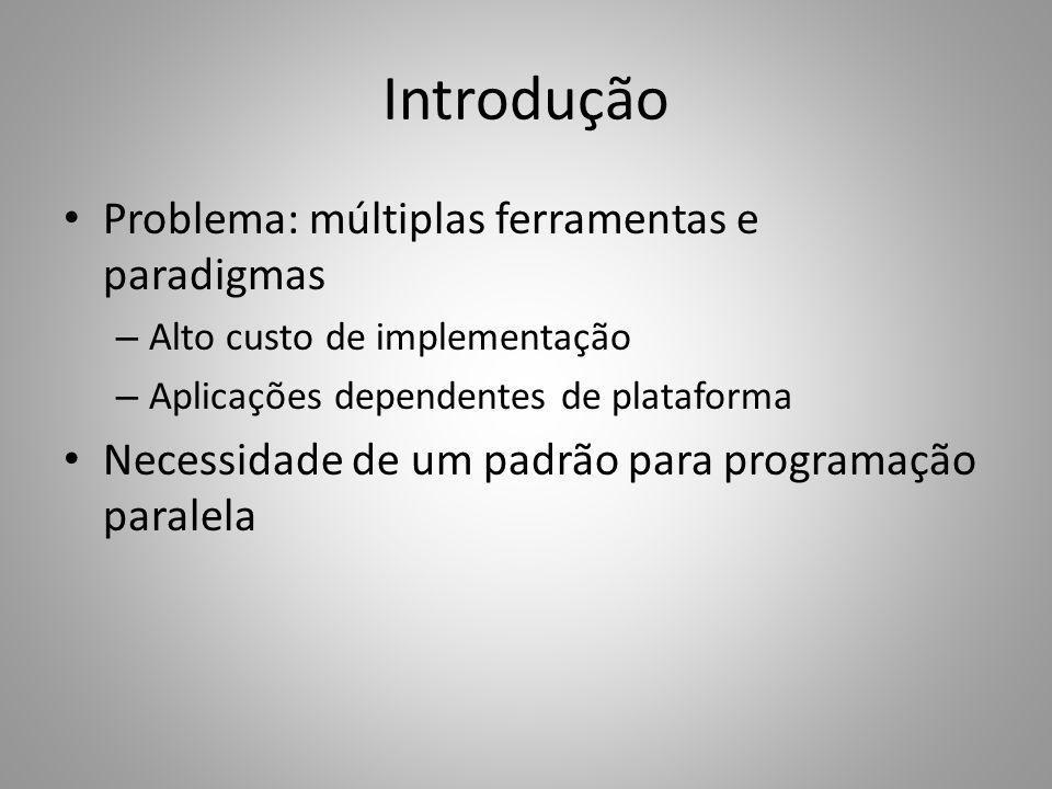 Introdução Problema: múltiplas ferramentas e paradigmas