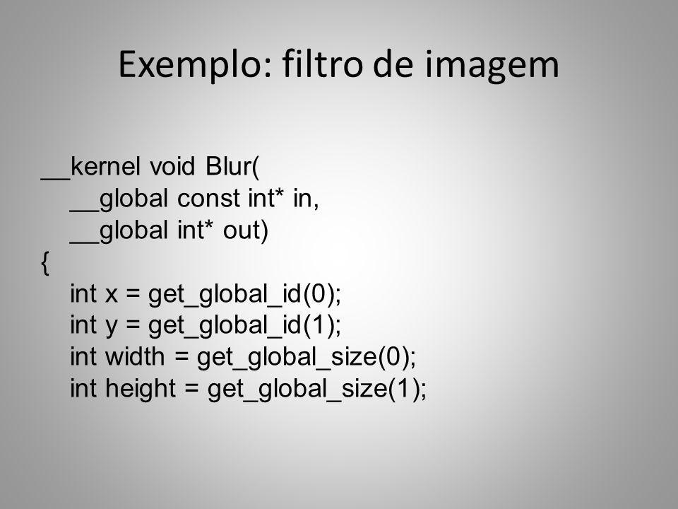 Exemplo: filtro de imagem
