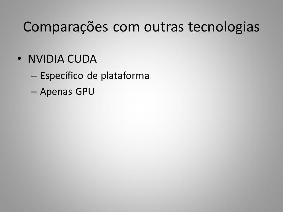 Comparações com outras tecnologias