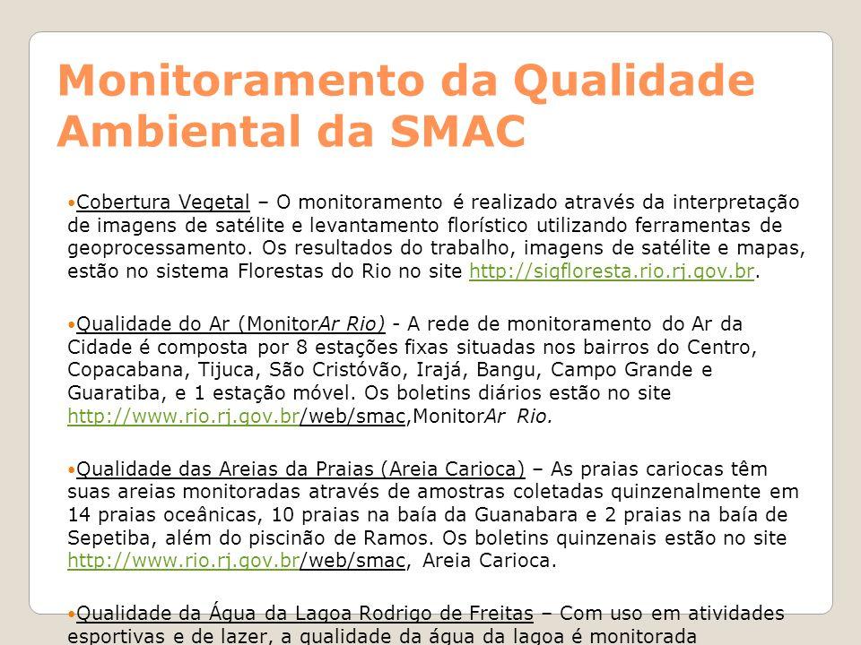 Monitoramento da Qualidade Ambiental da SMAC