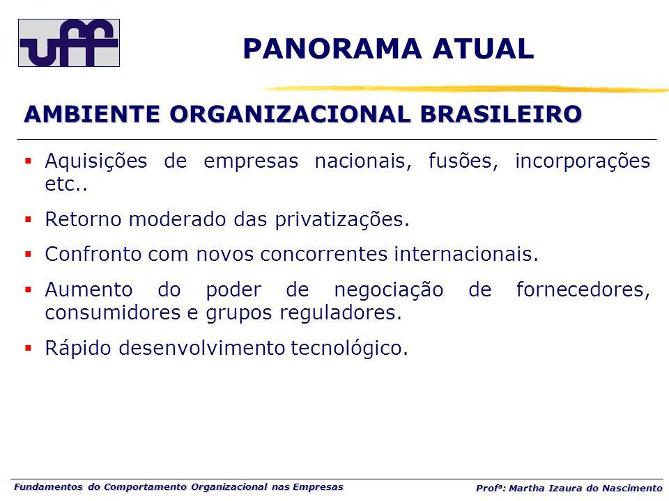 PANORAMA ATUAL AMBIENTE ORGANIZACIONAL BRASILEIRO
