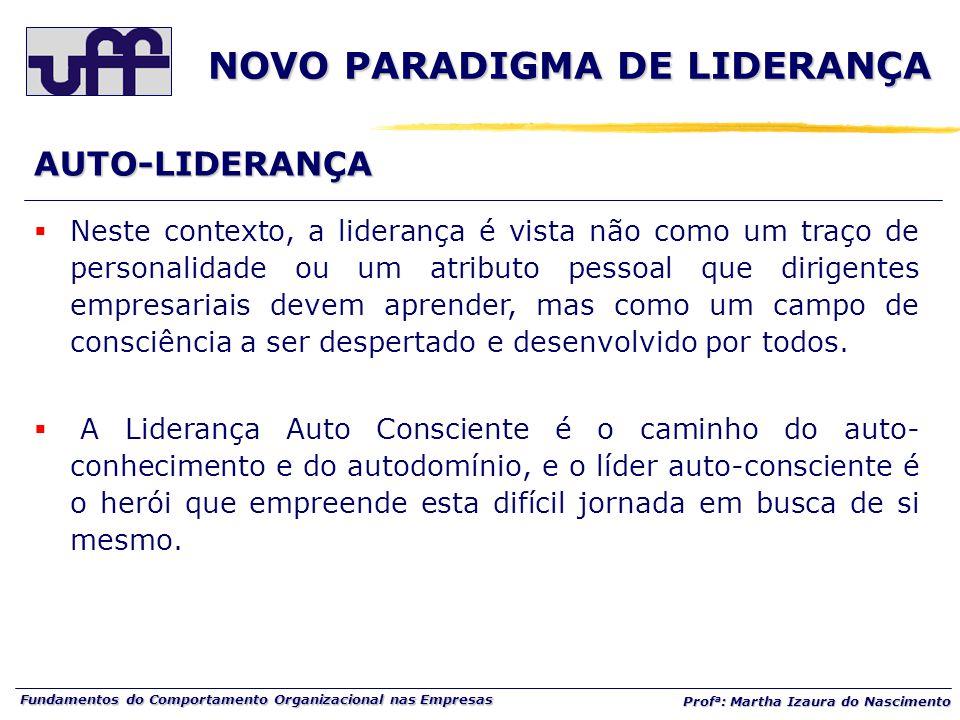 NOVO PARADIGMA DE LIDERANÇA