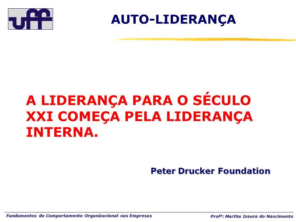 AUTO-LIDERANÇA A LIDERANÇA PARA O SÉCULO XXI COMEÇA PELA LIDERANÇA INTERNA.