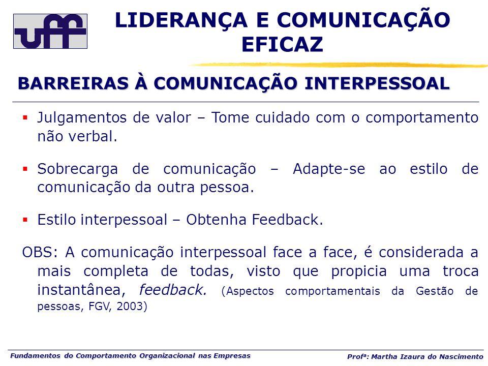 LIDERANÇA E COMUNICAÇÃO EFICAZ