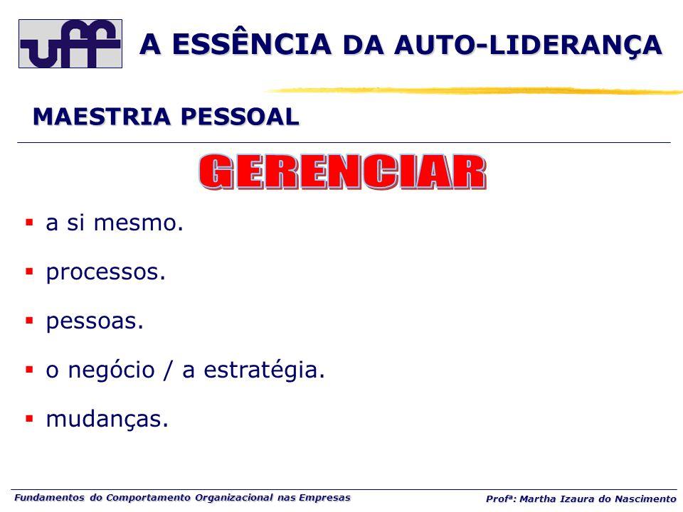 A ESSÊNCIA DA AUTO-LIDERANÇA