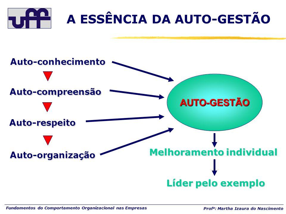 A ESSÊNCIA DA AUTO-GESTÃO Melhoramento individual
