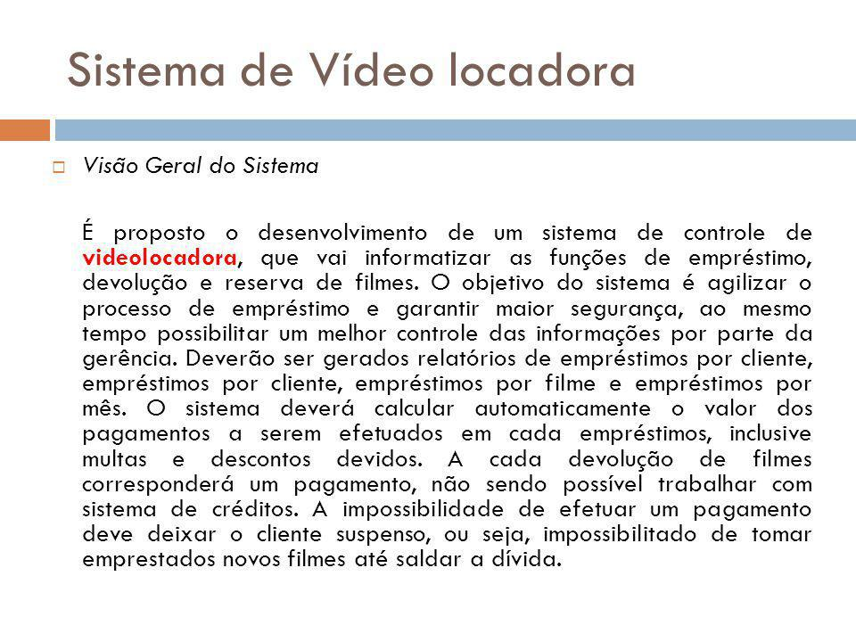 Sistema de Vídeo locadora
