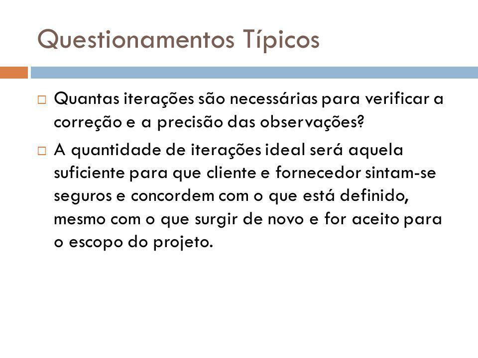 Questionamentos Típicos