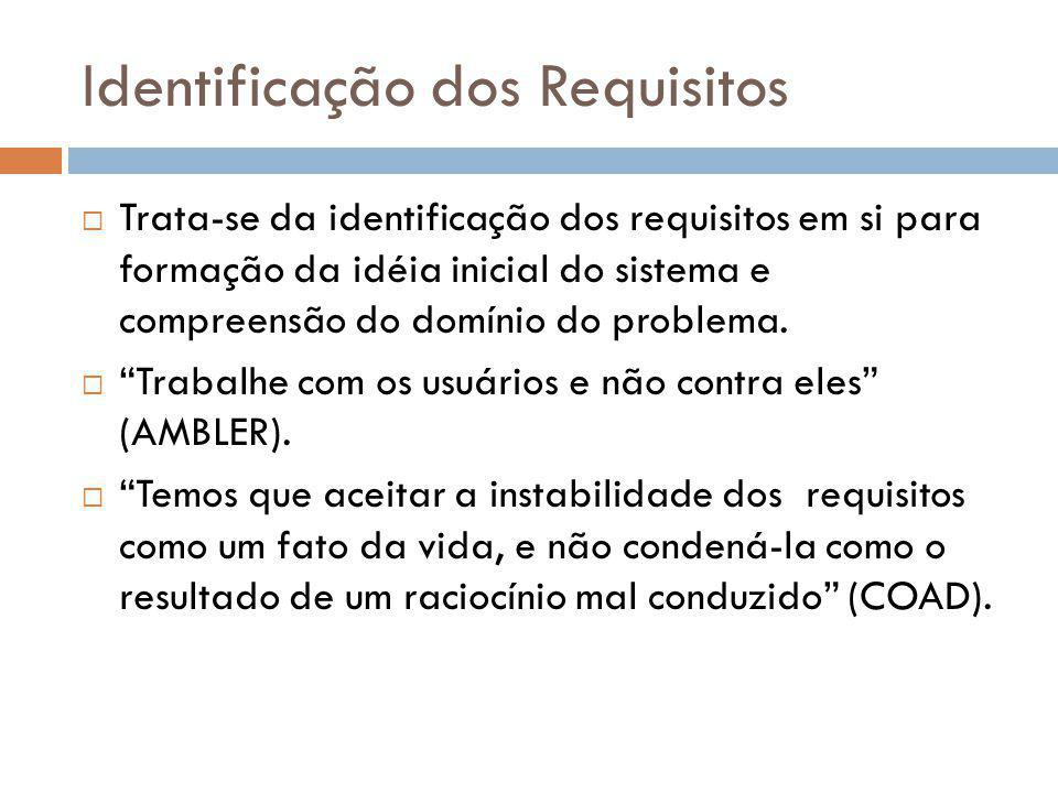 Identificação dos Requisitos