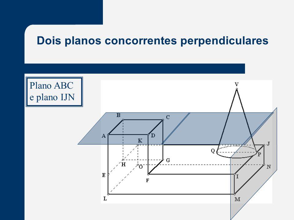 Dois planos concorrentes perpendiculares