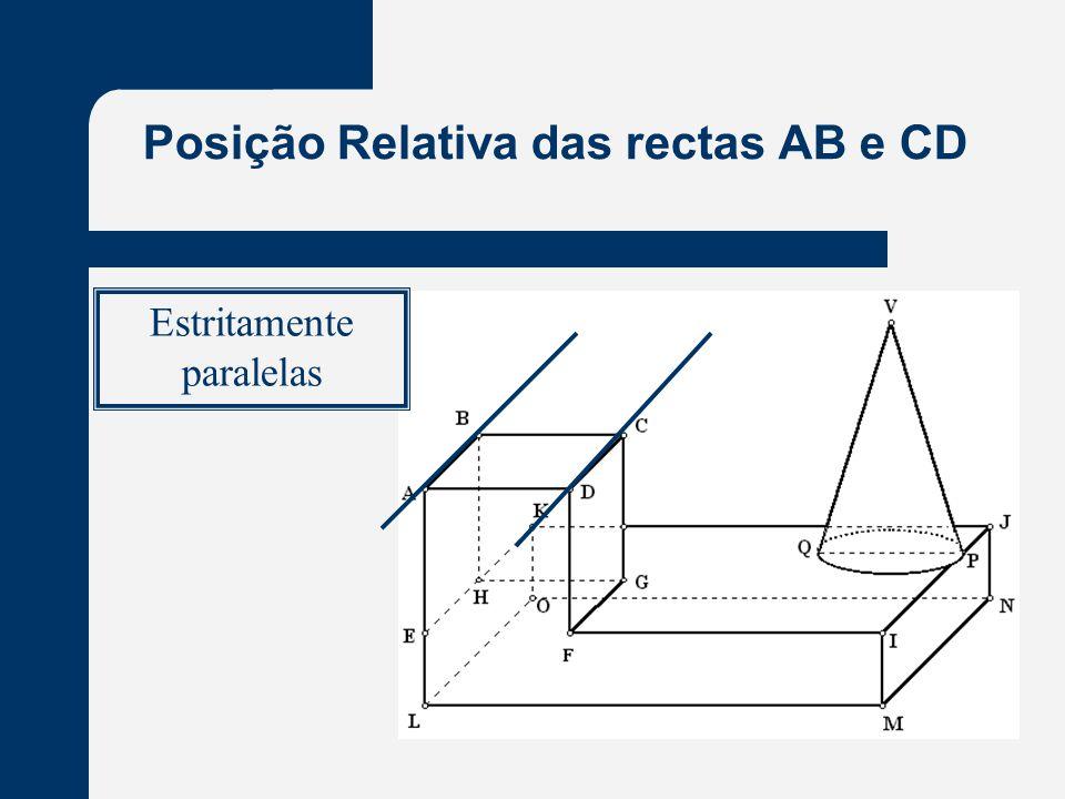 Posição Relativa das rectas AB e CD