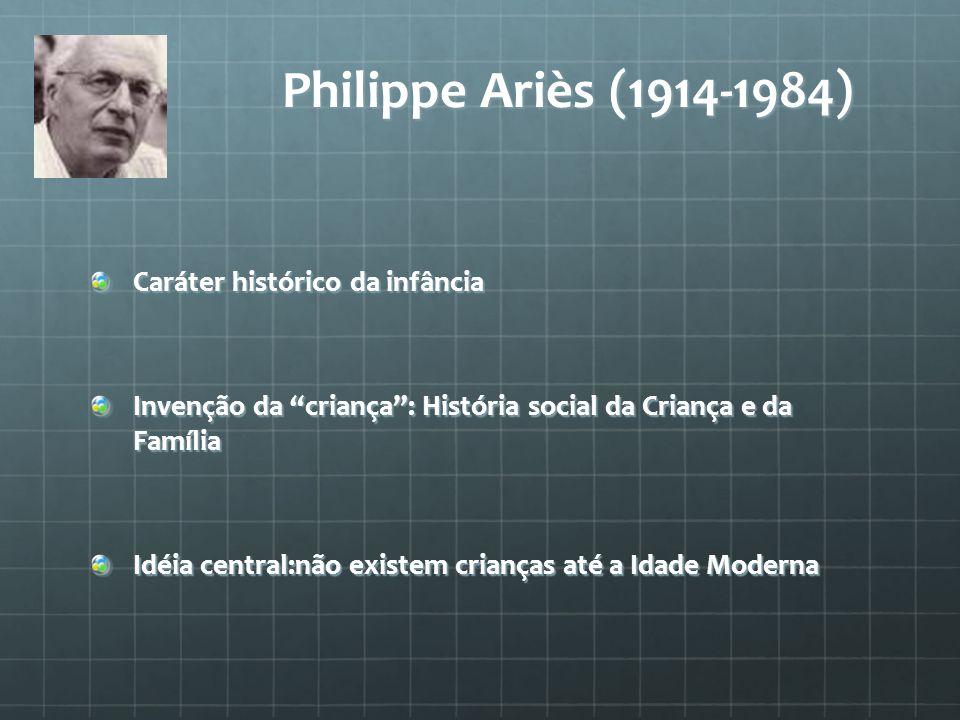 Philippe Ariès (1914-1984) Caráter histórico da infância