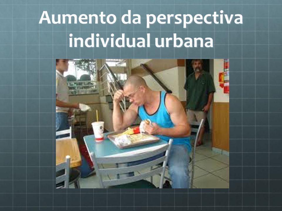 Aumento da perspectiva individual urbana