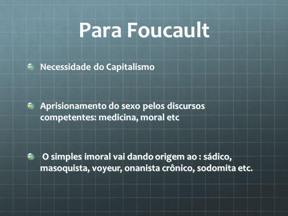 Para Foucault Necessidade do Capitalismo