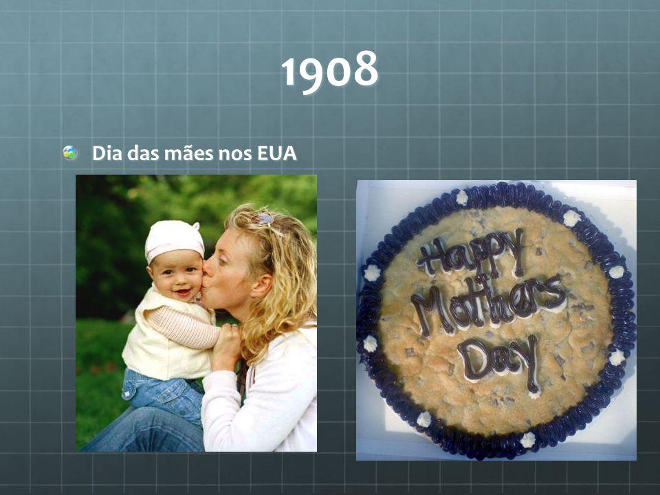 1908 Dia das mães nos EUA