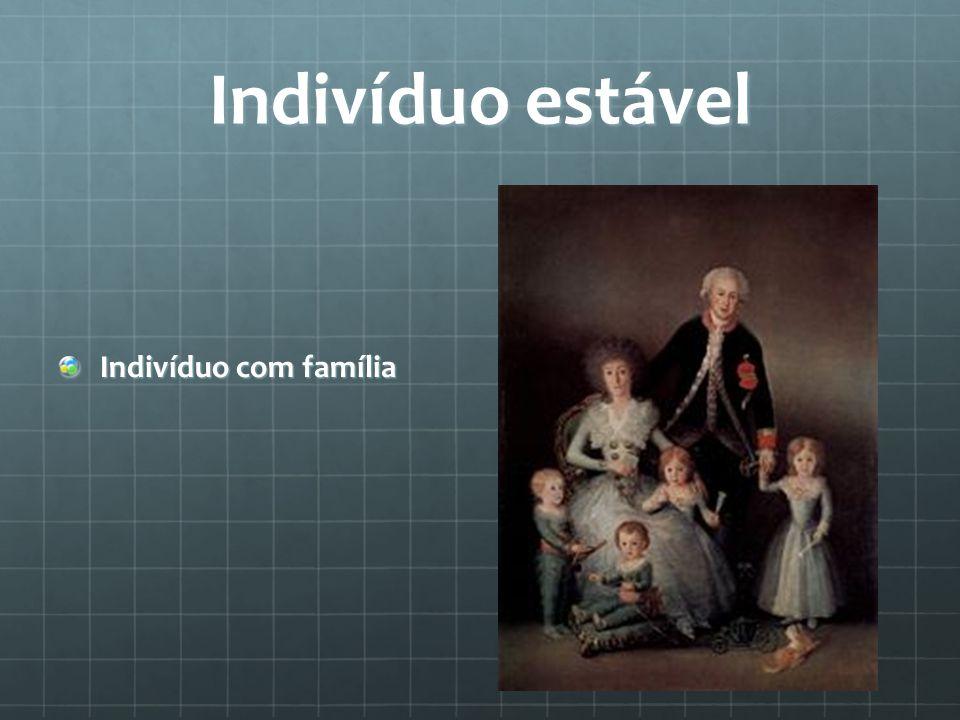 Indivíduo estável Indivíduo com família