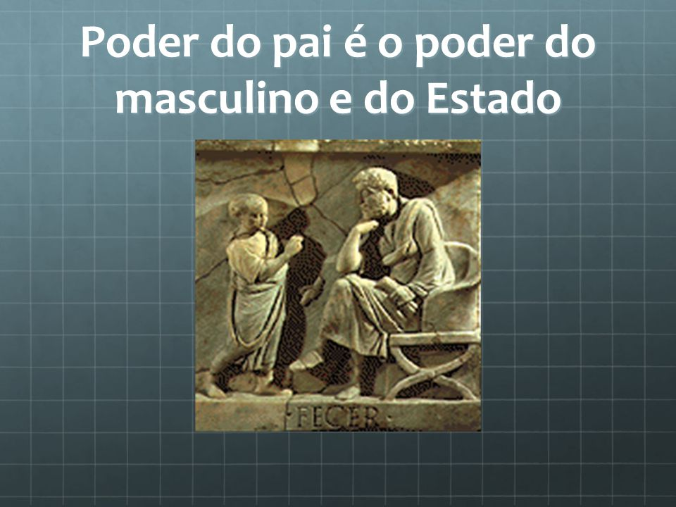 Poder do pai é o poder do masculino e do Estado