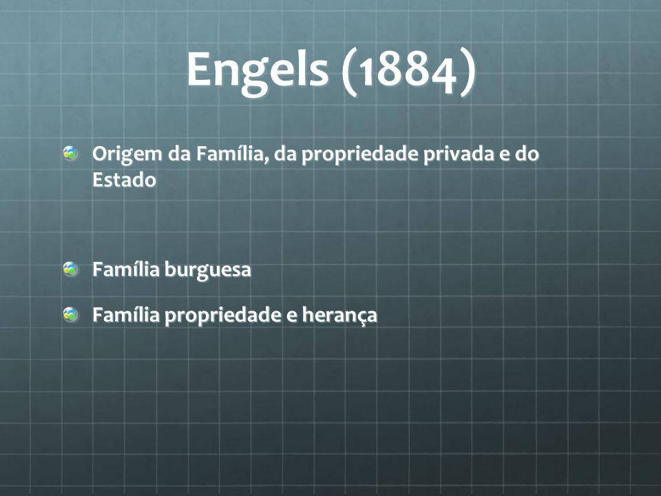 Engels (1884) Origem da Família, da propriedade privada e do Estado