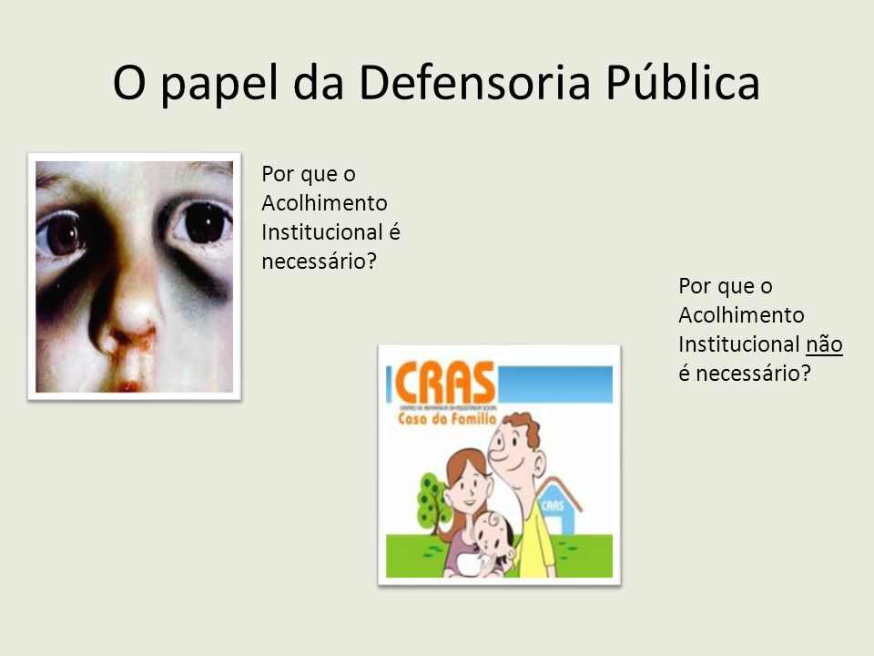 O papel da Defensoria Pública