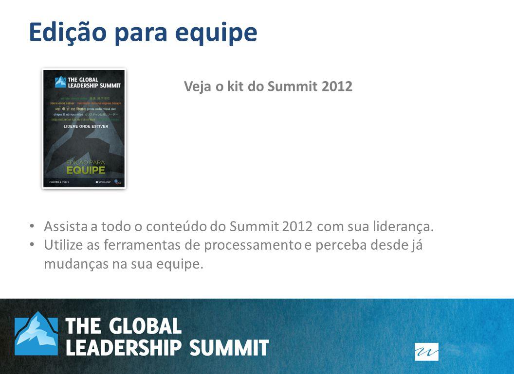 Edição para equipe = Veja o kit do Summit 2012