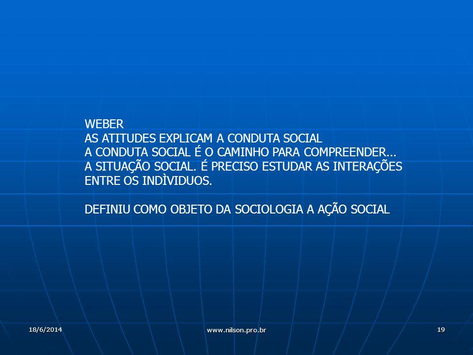 AS ATITUDES EXPLICAM A CONDUTA SOCIAL