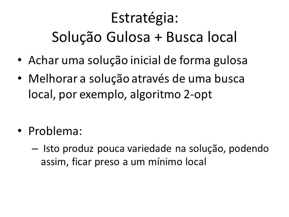 Estratégia: Solução Gulosa + Busca local