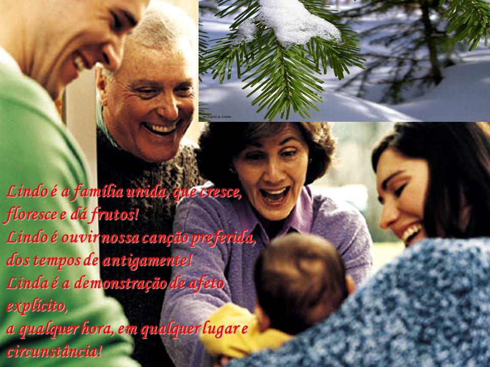 Lindo é a família unida, que cresce, floresce e dá frutos!