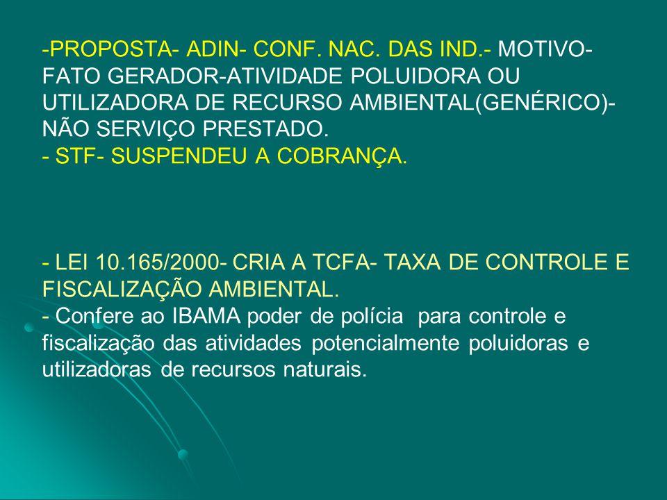 PROPOSTA- ADIN- CONF. NAC. DAS IND
