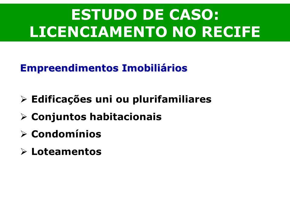 ESTUDO DE CASO: LICENCIAMENTO NO RECIFE