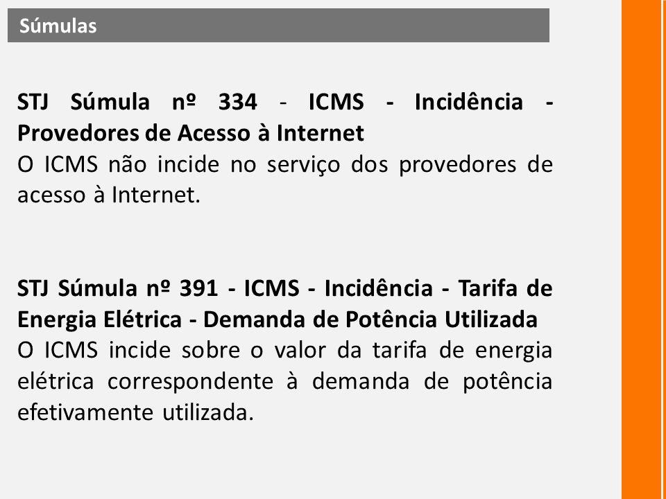 O ICMS não incide no serviço dos provedores de acesso à Internet.