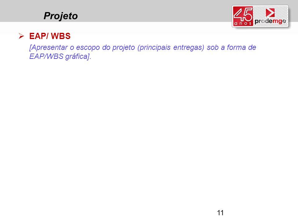 Projeto EAP/ WBS.