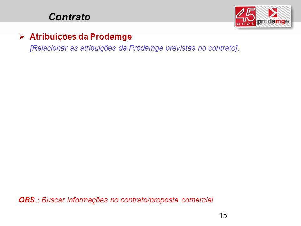 Contrato Atribuições da Prodemge