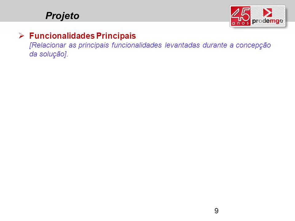 Projeto Funcionalidades Principais